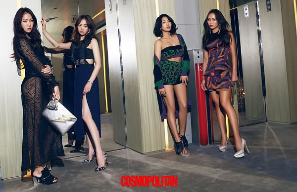 Tags: K-Pop, Sistar, Starship Entertainment, Bora, Hyorin, Soyou, Dasom Kim, Standing, Sleeveless Dress, Short Hair, Midriff, Full Group