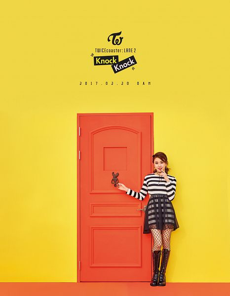Tags: JYP Entertainment, K-Pop, Twice, Son Chaeyoung, Text: Calendar Date, Text: Artist Name, Text: Album Name, Text: Song Title, Twicecoaster: Lane 2, Android/iPhone Wallpaper