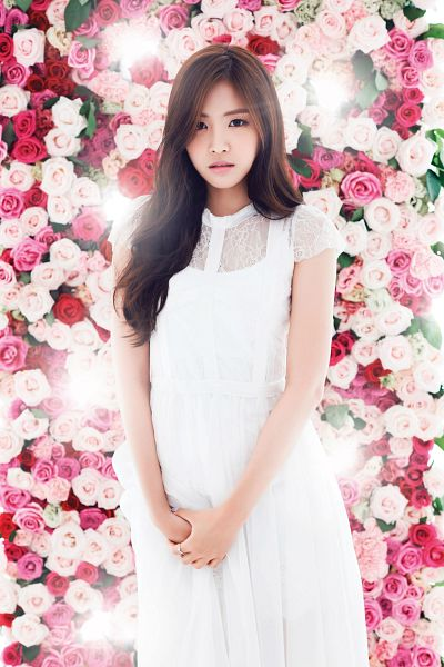 Tags: K-Pop, Apink, Son Na-eun, White Outfit, White Dress, Flower, Secret Garden (Apink), Android/iPhone Wallpaper