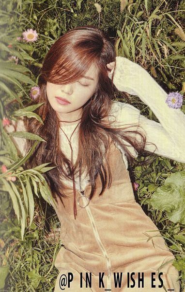 Tags: K-Pop, Apink, Son Na-eun, Brown Outfit, Peek-a-boo Bang, Eyes Closed, Brown Dress, Scan, Android/iPhone Wallpaper, Pink Revolution