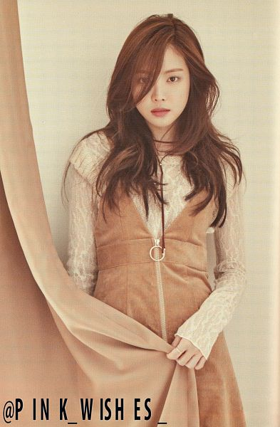 Tags: K-Pop, Apink, Son Na-eun, Curtain, Brown Dress, Brown Outfit, Peek-a-boo Bang, Scan, Android/iPhone Wallpaper, Pink Revolution