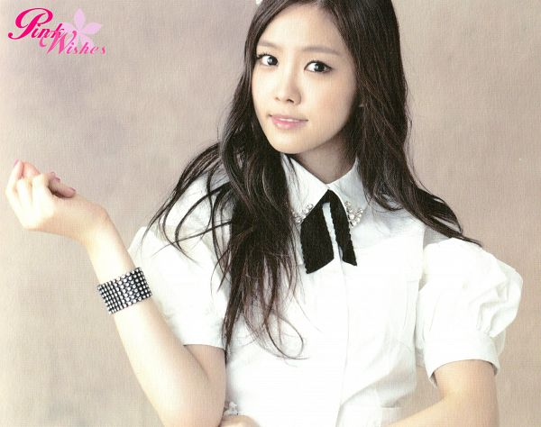 Tags: K-Pop, Apink, Son Na-eun, Close Up, Brown Background, Snow Pink