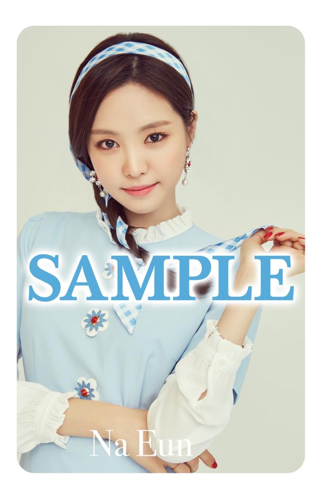 Tags: K-Pop, J-Pop, Apink, Bye Bye, Son Na-eun, Text, Braids, Gray Background, Text: Artist Name, Jewelry, Blue Dress, Make Up