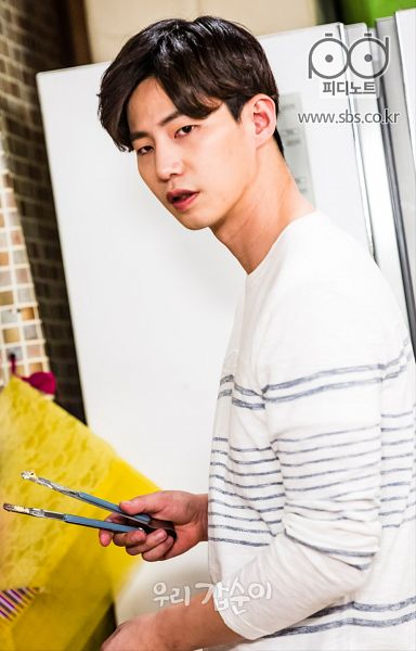 Tags: K-Drama, Song Jae-rim, Kitchen, Striped, Cooking, Striped Shirt, Food, Fridge, Our Gap-soon, Android/iPhone Wallpaper