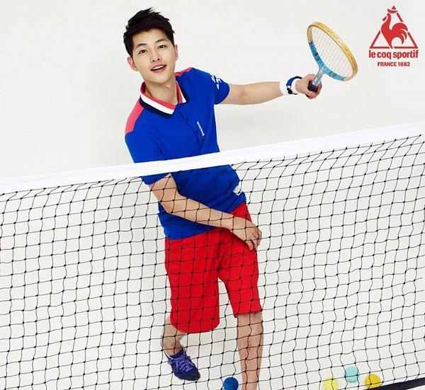 Tags: K-Drama, Song Joong-ki, Tennis, Ball, Tennis Racket, Net, Tennis Ball, Le Coq Sportif