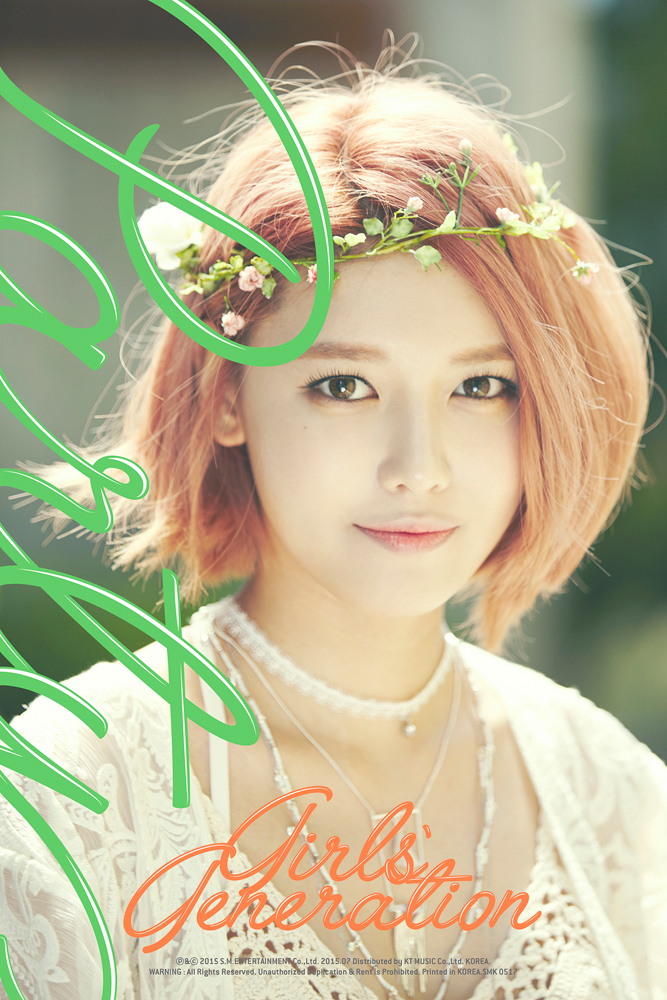 Tags: K-Pop, Girls' Generation, Party (song), Sooyoung, Text: Song Title, Crown, Text: Artist Name, Necklace, Flower Crown, Flower