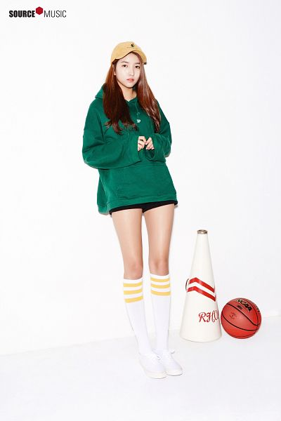 Tags: K-Pop, G-friend, Sowon, White Background, Megaphone, Hat, Basketball Ball, Light Background, Android/iPhone Wallpaper, G-friend 2017 Season's Greetings