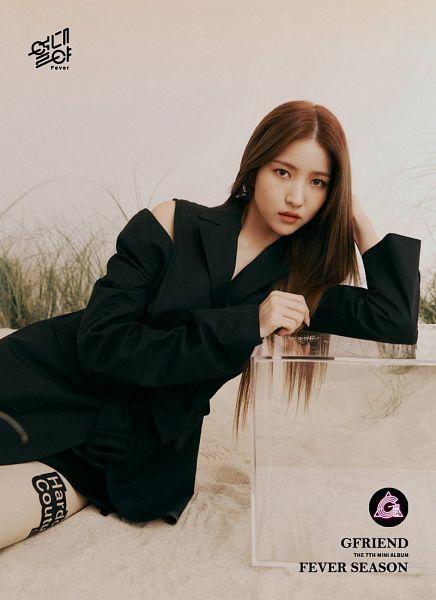 Tags: K-Pop, G-friend, Sowon, Serious, Black Outfit, Black Dress, Fever Season