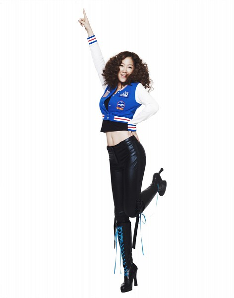 Tags: Starship Entertainment, K-Pop, Sistar, Push Push, How Dare You (Song), Soyou, Hand On Hip, High Heeled Boots, Blue Outerwear, Wavy Hair, Black Footwear, Midriff