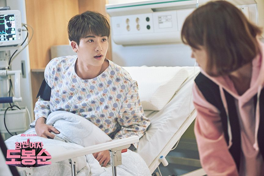 Tags: K-Pop, K-Drama, ZE:A, Park Bo-young, Park Hyungsik, Bend Over, Nightwear, Hood, On Bed, Hoodie, Looking At Another, Bed