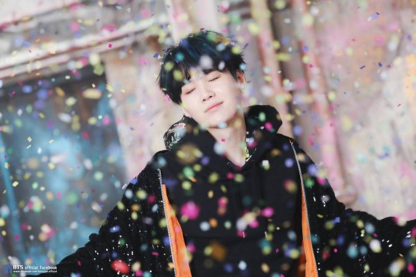 Tags: K-Pop, Bangtan Boys, Suga, Confetti, Wallpaper, You Never Walk Alone