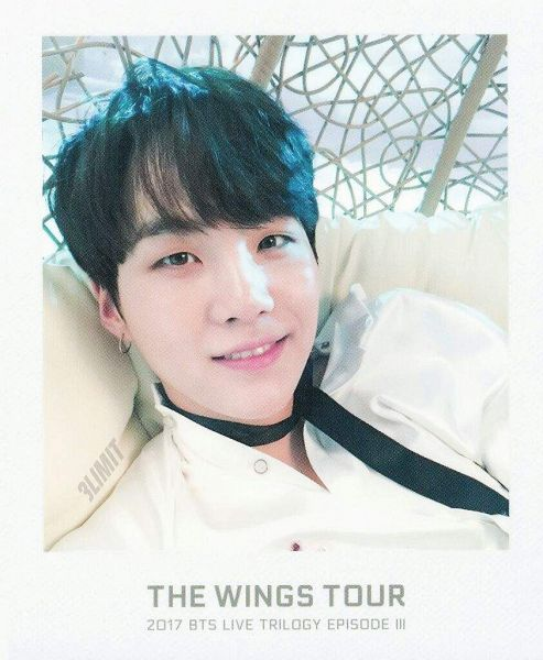 Tags: K-Pop, BTS, Suga, Choker, Tie, Contact Lenses, Text: Artist Name, Black Neckwear, Close Up, Scan, BTS Live Trilogy Episode III: The Wings Tour