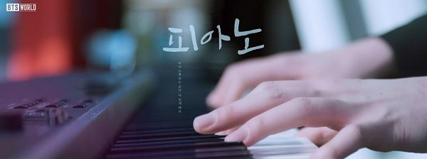Tags: K-Pop, BTS, Suga, Hands, Korean Text, Playing Instrument, Piano, Face Cut Off, Musical Instrument, Netmarble, BTS World