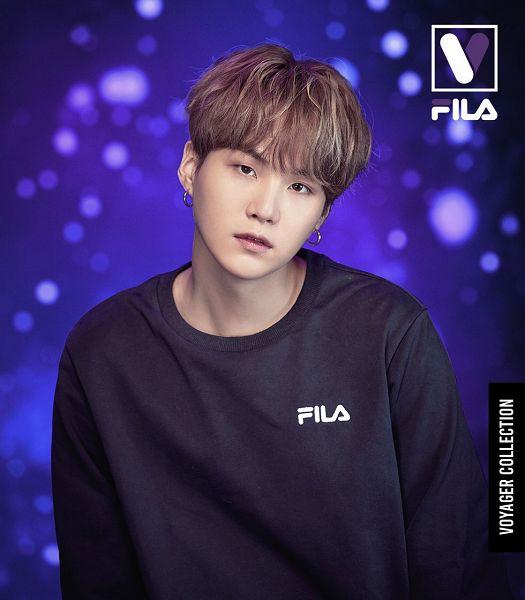 Tags: K-Pop, BTS, Suga, Space, Dark Background, Close Up, Sky, English Text, Head Tilt, Black Eyes, Stars (Sky), Sweater