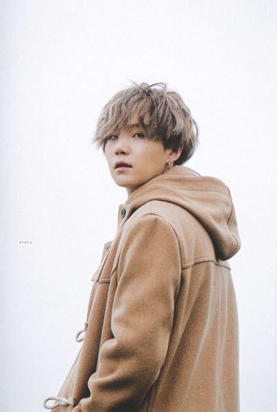 Tags: K-Pop, BTS, Suga, Gray Hair, Hood, Coat, Outdoors, Black Eyes, Brown Outerwear, Scan, BTS 2020 Winter Package