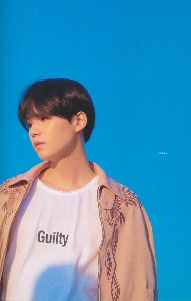 Tags: K-Pop, BTS, Suga, Outdoors, English Text, Looking Away, Day, Sky, Scan, Love Yourself: Tear