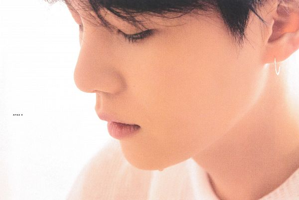 Tags: K-Pop, BTS, Suga, Light Background, White Background, Looking Down, Crying, Love Yourself: Tear, Scan