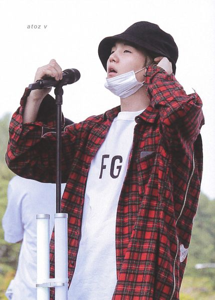 Tags: K-Pop, BTS, Suga, Mask, Plaided Shirt, Plaided Print, Sky, Mask Off, Duo, Face Mask, Hat, Collar (Clothes)