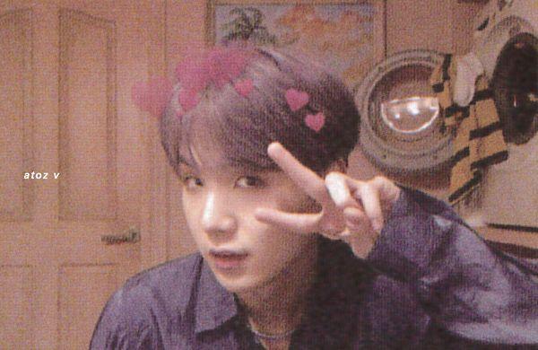 Tags: K-Pop, BTS, Suga, Canvas, Necklace, Purple Hair, Purple Shirt, Collar (Clothes), Indoors, Close Up, Black Eyes, Wall