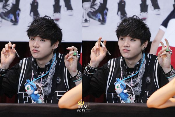 Tags: K-Pop, BTS, Suga, Bandana, Ring, Collage, Fansigning Event, Wallpaper