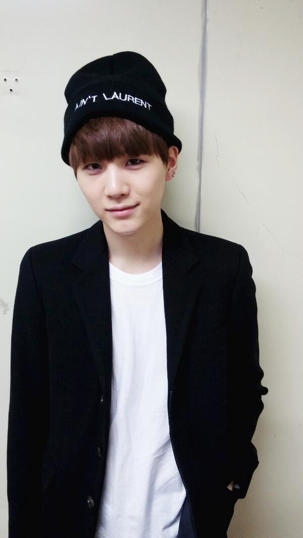 Tags: K-Pop, BTS, Suga, Black Outerwear, Hat, Black Headwear, Black Jacket