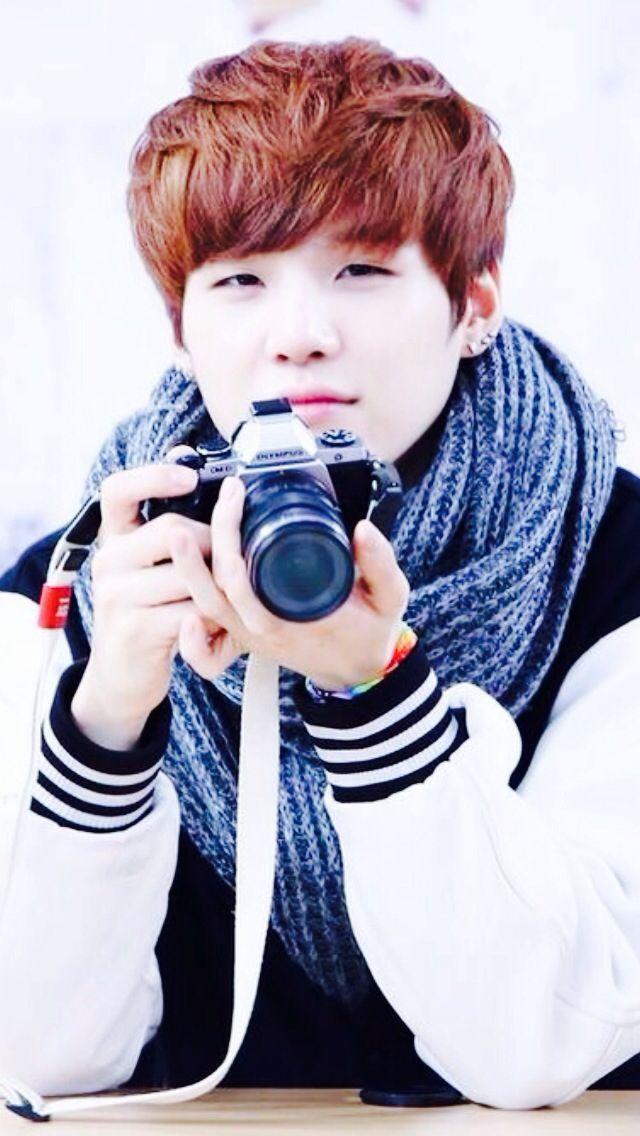 Tags: K-Pop, BTS, Suga, Scarf, Black Eyes, Camera
