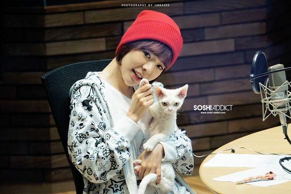 Tags: K-Pop, Girls' Generation, Sunny, Salt, White Outfit, White Jacket, Hat, Animal, Cat, FM Date, Wallpaper