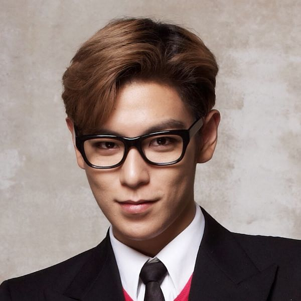 Tags: K-Pop, BIGBANG, T.O.P., Black Neckwear, Tie, Black Outerwear, Black Jacket, Brown Background