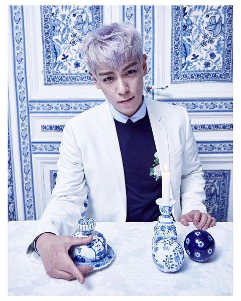 Tags: K-Pop, BIGBANG, T.O.P., Blunt Bangs, White Hair, Men's Uno