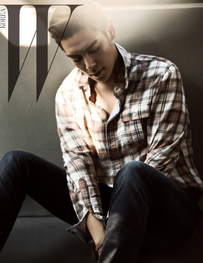 Tags: YG Entertainment, K-Pop, BIGBANG, T.O.P., Text: Magazine Name, W Korea, Magazine Scan
