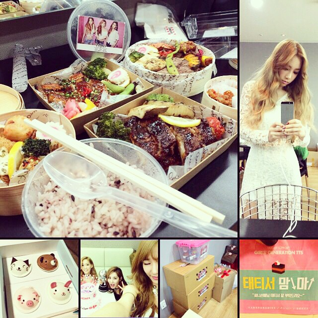 Tags: Girls' Generation, TaeTiSeo, Seohyun, Stephanie Young Hwang, Kim Tae-yeon, White Outfit, Stick, Cupcake, Rice, Blonde Hair, Sweets, White Dress