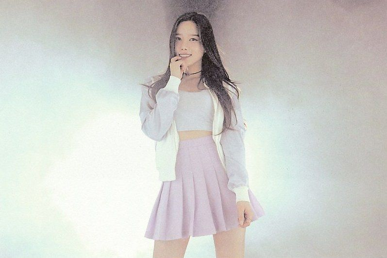 Tags: K-Pop, Berry Good, Taeha, Choker, Midriff, Pink Skirt, Skirt, Very Berry, Self Scanned, Scan