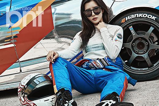 Tags: K-Pop, Berry Good, Taeha, Black Eyes, Sunglasses, Helmet, Bent Knees, Sitting On Ground, Sitting, Glasses, Car, Magazine Scan