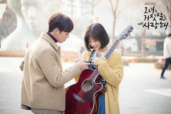 Tags: K-Drama, K-Pop, Red Velvet, Lee Hyun-woo, Joy, Couple, Musical Instrument, Guitar, Duo, The Liar and His Lover