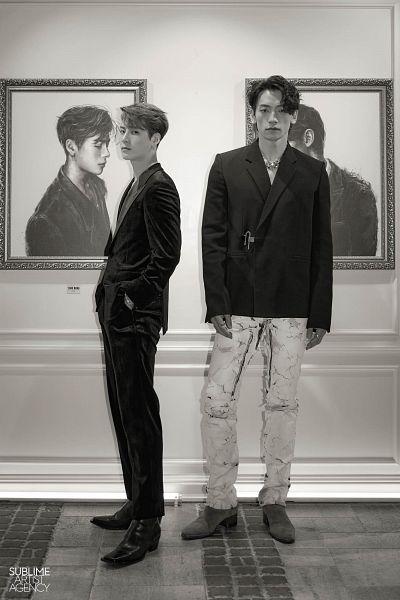 Tags: K-Pop, Got7, SSAK3, Jackson, Rain (Singer), Hand In Pocket, Monochrome, Two Males, Suit, Duo