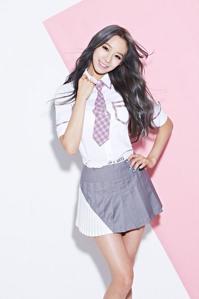 Tags: K-Pop, BESTie, Uji, Hand On Hip, No Background, Tie, Skirt
