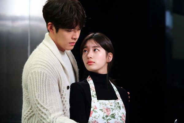 Tags: K-Drama, K-Pop, Miss A, Bae Suzy, Kim Woo-bin, Black Eyes, Looking Up, Looking Back, Looking At Another, Apron, Uncontrollably Fond