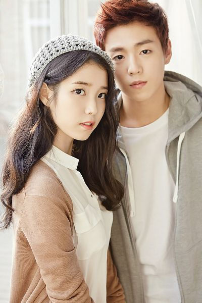 Tags: K-Pop, K-Drama, Lee Hyun-woo, IU, Gray Outerwear, Hoodie, Serious, Red Hair, Brown Outerwear, Duo, Hat, Android/iPhone Wallpaper