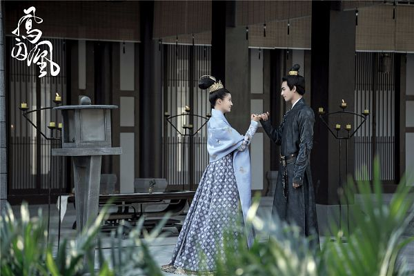 Tags: C-Drama, Song Weilong, Guan Xiaotong, Hair Ornament, Duo, Chinese Clothes, Fire, Traditional Clothes, Candle, Looking At Another, Text: Series Name, Couple