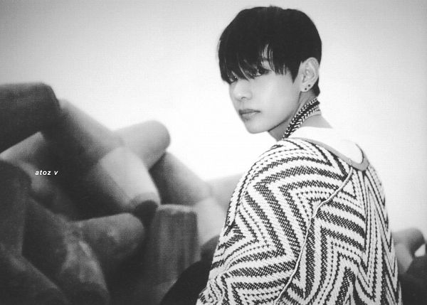 Tags: K-Pop, BTS, V (Kim Taehyung), Necklace, Serious, Monochrome, Scan, The Most Beautiful Moment in Life pt.1