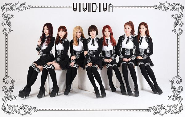 Tags: K-Pop, VIVIDIVA, Saeyan, Seo Soojin, Jeon Sara, Jeong Go-woon, CherryBerry, Ha.L, Kana, Black Outfit, Black Dress, Red Hair