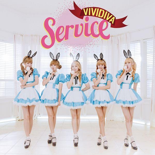 Tags: K-Pop, VIVIDIVA, Saeyan, Jeon Sara, CherryBerry, Jeong Go-woon, Ha.L, Single Bun, Hair Buns, Animal Ears, Five Girls, Twin Braids