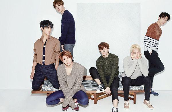 Tags: K-Pop, VIXX, Ravi, N (singer), Hyuk, Ken, Hongbin, Leo, Black Jacket, Bench, Sweater, Hand On Cheek