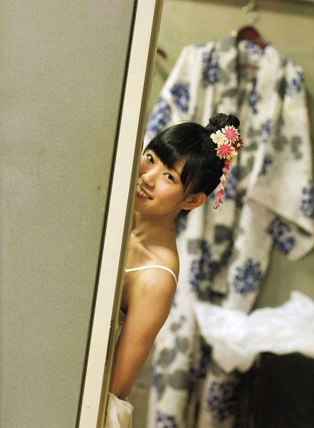 Tags: J-Pop, AKB48, NMB48, Watanabe Miyuki, Hair Ornament, Bare Shoulders, Hair Up, Blunt Bangs, Sleeveless, Scan, Android/iPhone Wallpaper, Mirushin Photobook