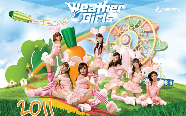 Tags: J-Pop, C-Pop, Weather Girls, Yumi, Hijon, Mini, Esse, Mia (Weather Girls), Daraa, Nuenue, Animal Ears, Leg Up