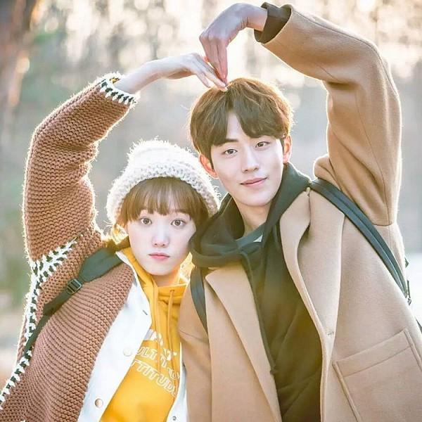 Tags: K-Drama, Nam Joo-hyuk, Lee Sung-kyung, Couple, Duo, Heart Gesture, Weightlifting Fairy Kim Bok-joo