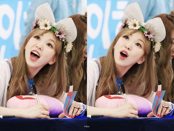 Tags: SM Town, K-Pop, Red Velvet, Wendy, Flower, Hair Ornament, Looking Up, Ring, Flower Crown, Collage, Crown, Cute