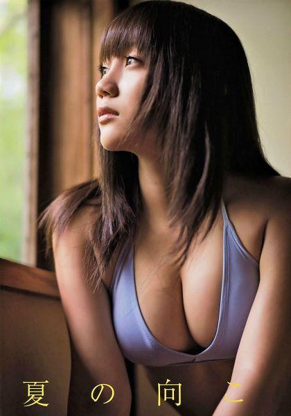 Tags: J-Pop, NMB48, Yabushita Shu, Cleavage, Midriff, Japanese Text, Looking Away, Bikini, Swimsuit, Suggestive, Bare Shoulders