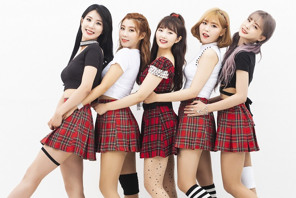 Tags: K-Pop, Yellow Bee, Kim Somee, Rozy, Im Boyeon, Berry, Lee Seona, Medium Hair, Hand On Hip, Plaided Skirt, Light Background, Red Hair