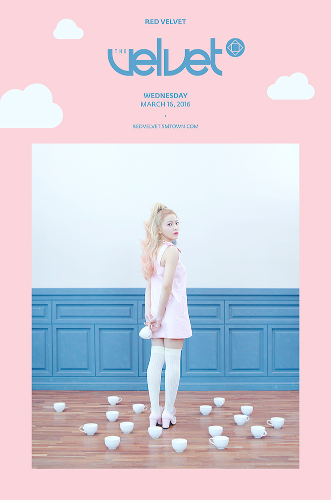 Tags: SM Town, K-Pop, Red Velvet, One Of These Nights, Yeri, High Heels, Text: Artist Name, Text: Album Name, English Text, Socks, Text: URL, Wavy Hair